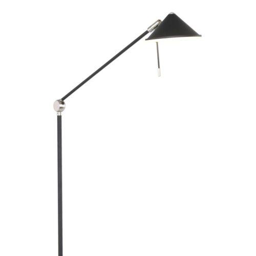 Vloerlamp 1-lichts LED - zwart en chroom - Punkt LED - Steinhauer