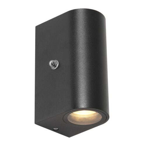 Buitenlamp -  wandlamp voor buiten -  IP44 -  2-lichts LED 4w 2700K sensor -  zwart en helder wit -  Steinhauer