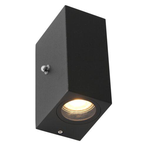 Buitenlamp -  wandlamp voor buiten -  IP54 -  2-lichts LED 4w 2700K sensor -  zwart en helder wit -  Steinhauer