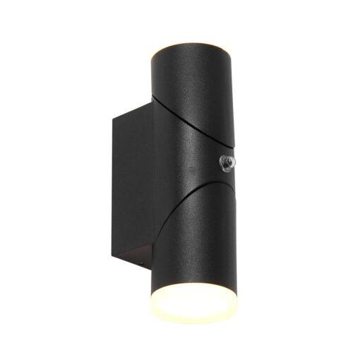 Buitenlamp -  wandlamp voor buiten -  IP54 -  LED 13w sensor -  zwart en helder wit -  Steinhauer