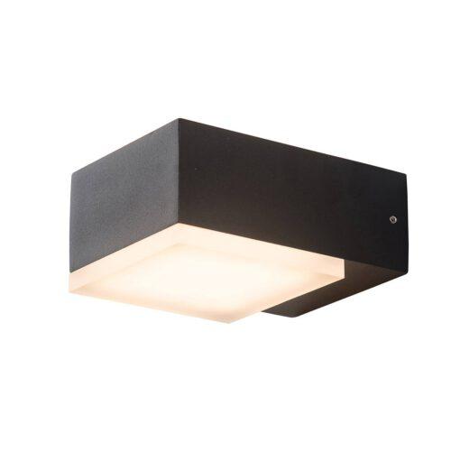 Buitenlamp -  wandlamp voor buiten -  IP54 -  LED 12w square -  zwart en helder wit -  Steinhauer