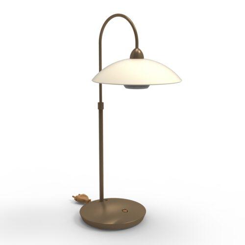 Tafellamp 1-lichts glas G9 - brons en crème - Sovereign classic - Steinhauer