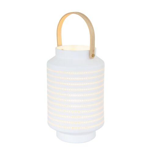 Tafellamp 1-lichts E14 - wit - Porcelain - Anne light & home
