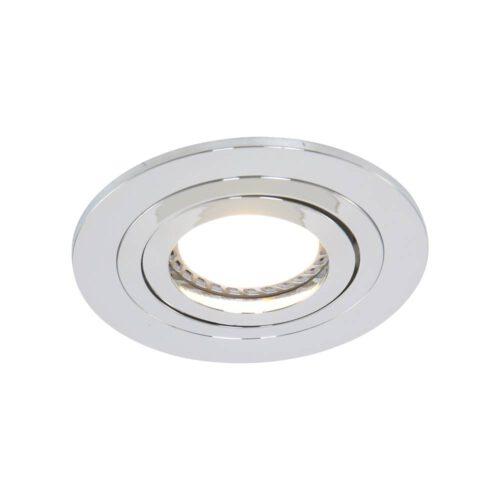 Inbouwspot 1-lichts aluminium STEINHAUER - 7304CH - Spots- Steinhauer- Round- Modern - Minimalistisch design- Chroom  Chroom- Metaal