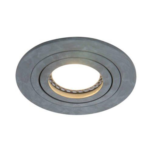Inbouwspot 1-lichts aluminium STEINHAUER - 7304GR - Spots- Steinhauer- Round- Modern - Minimalistisch design- Grijs  Grijs- Metaal