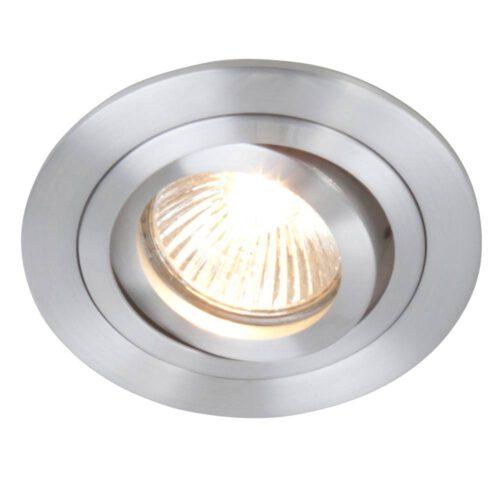 Inbouwspot 1-lichts aluminium STEINHAUER - 7304ST - Spots- Plafondlamp- Steinhauer- Vespo- Modern - Minimalistisch design- Staal  - Metaal