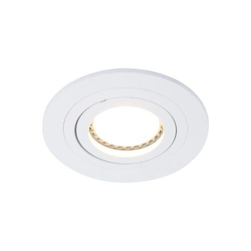Inbouwspot 1-lichts aluminium STEINHAUER - 7304W - Spots- Steinhauer- Round- Modern - Minimalistisch design- Wit  Wit- Metaal