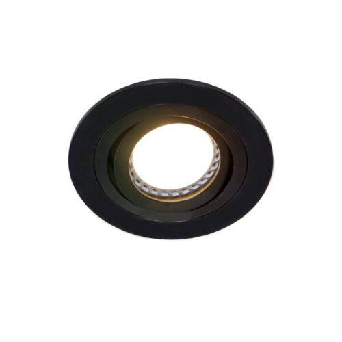 Inbouwspot 1-lichts aluminium STEINHAUER - 7304ZW - Spots- Steinhauer- Round- Modern - Minimalistisch design- Zwart  Zwart- Metaal
