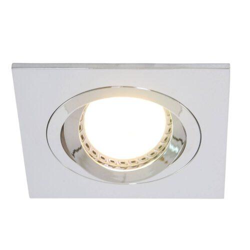 Inbouwspot 1-lichts aluminium STEINHAUER - 7305CH - Spots- Steinhauer- Square- Modern - Minimalistisch design- Chroom  Chroom- Metaal