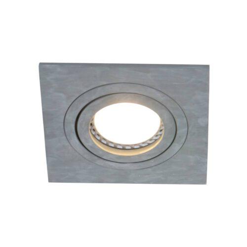Inbouwspot 1-lichts aluminium STEINHAUER - 7305GR - Spots- Steinhauer- Square- Modern - Minimalistisch design- Grijs  Grijs- Metaal