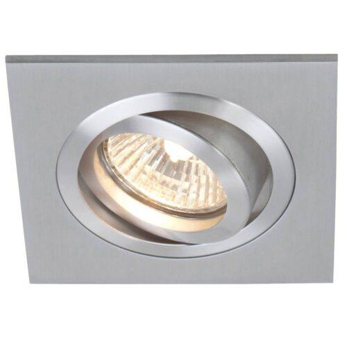 Inbouwspot 1-lichts aluminium STEINHAUER - 7305ST - Spots- Plafondlamp- Steinhauer- Vespo- Modern - Minimalistisch design- Staal  - Metaal