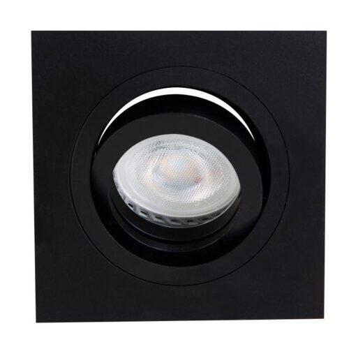 Inbouwspot 1-lichts aluminium STEINHAUER - 7305ZW - Spots- Steinhauer- Square- Modern - Minimalistisch design- Zwart  Zwart- Metaal