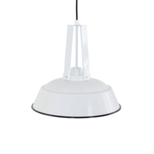 industriële hanglamp 1-lichts metaal 43cm MEXLITE - 7704W - industriële hanglamp - Industrielamp - Mexlite - Luna - Industrieel - Trendy Wit Wit- Metaal