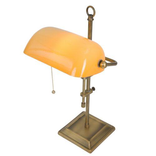 Bureaulamp - tafellamp - leeslamp - 1-lichts glas STEINHAUER - 7735BR - Tafellamp- Bureaulamp- Steinhauer- Ancilla- Klassiek - Landelijk- Brons Geel - Metaal Glas