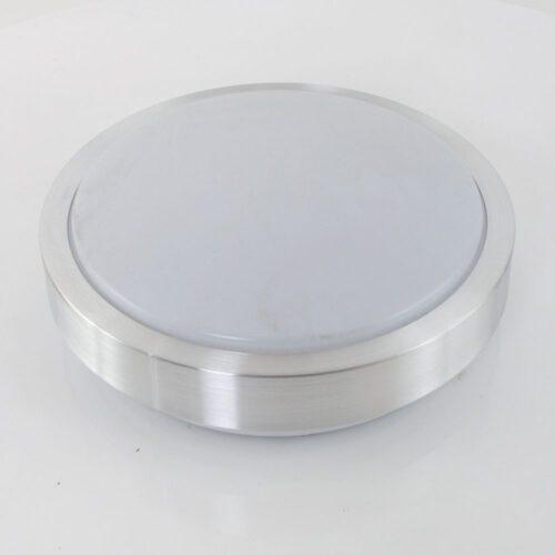 Plafondlamp- plafonnier- rond met rand 12W 22cm STEINHAUER - 7830ST - Plafondlamp- Steinhauer- Plafondlamp- Modern- Staal  - Metaal Kunststof