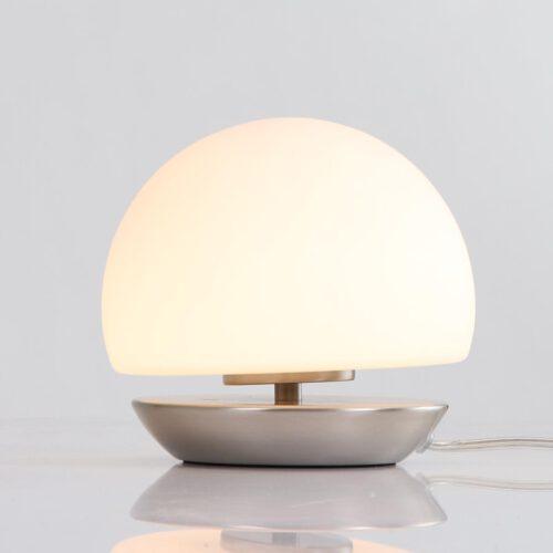 Tafellamp 1-lichts Glas LED -6875st- STEINHAUER - 7932ST - Tafellamp- Steinhauer- Ancilla- Klassiek - Modern- Staal Wit - Metaal Glas