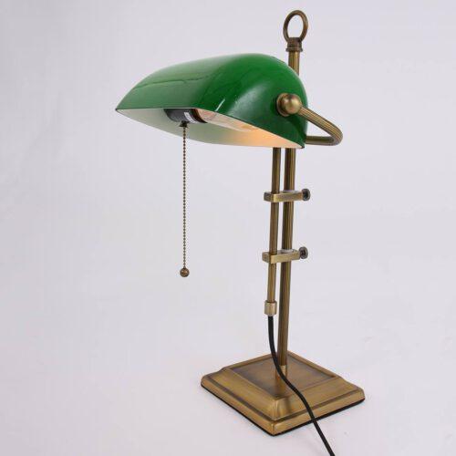 Bureaulamp - leeslamp - tafellamp 1-lichts glas STEINHAUER - 7961BR - Tafellamp- Bureaulamp- Steinhauer- Ancilla- Klassiek- Brons Groen - Metaal Glas