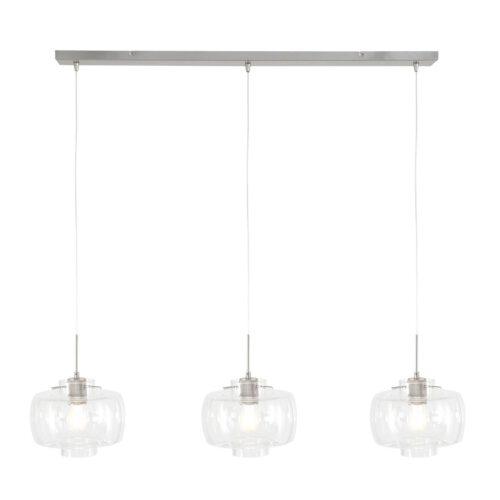 Hanglamp 3-lichts E27 (armatuur) +3x 2496 glas flat clear - STEINHAUER