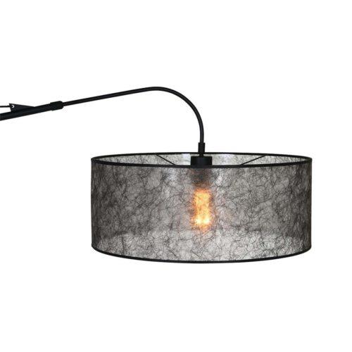 Vloerlamp Stresa 9680 staal - kap sizoflor zilver STEINHAUER