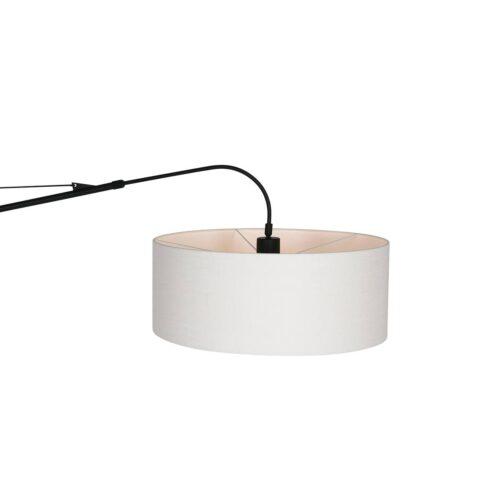 Vloerlamp Gramineus 9719 staal - kap linnen wit STEINHAUER