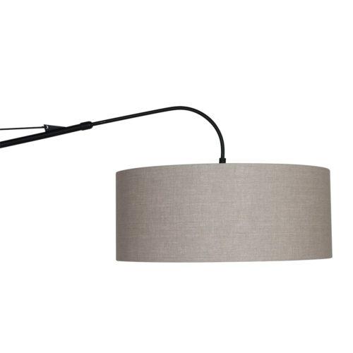 Vloerlamp Gramineus 9720 staal - kap linnen grijs STEINHAUER