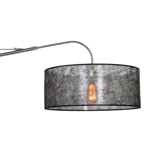 Wandlamp - leeslamp - Gramineus 9722 staal - kap effen wit STEINHAUER