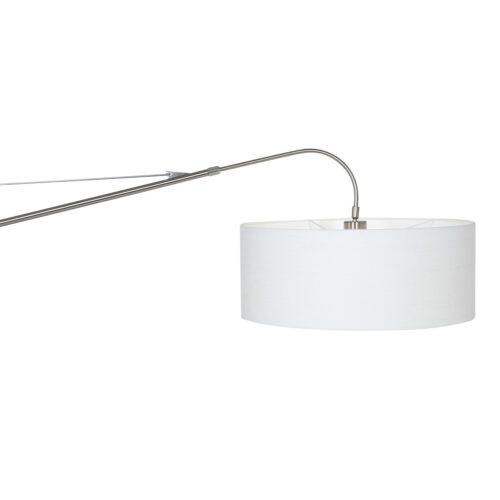 Vloerlamp 1-lichts boog (armatuur) 7268+Kap 45*40*28 rond Be27 effen wit - STEINHAUER