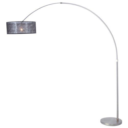 Stresa Hanglamp 9887ST Staal - Zilveren Kap STEINHAUER
