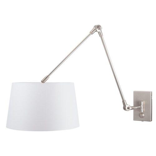 Vloerlamp 1-lichts boog (armatuur) 7268+Kap 50*50*20 rond Be27 wit linnen - STEINHAUER