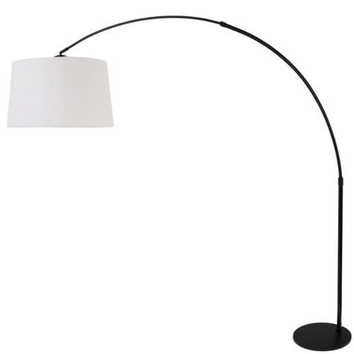 Vloerlamp 1-lichts boog (armatuur) 7268+Kap 50*50*20 rond Be27 grijs linnen - STEINHAUER