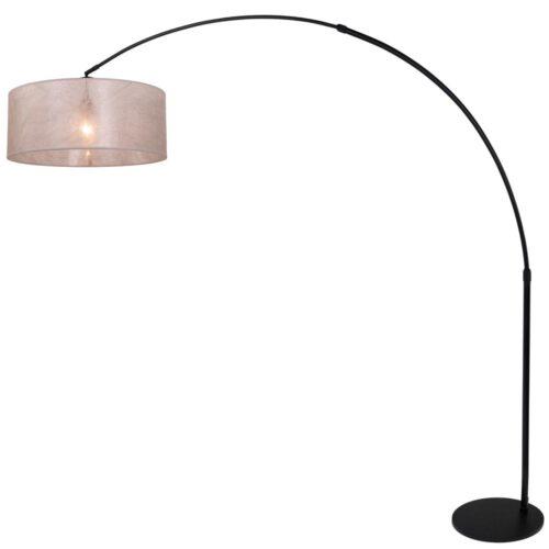 Wandlamp 1-lichts switch (armatuur)+Kap 30*25*18 rond Be27 linnen wit - STEINHAUER