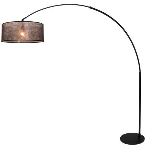 Wandlamp 1-lichts switch (armatuur)+Kap 30*25*18 rond Be27 linnen grijs - STEINHAUER