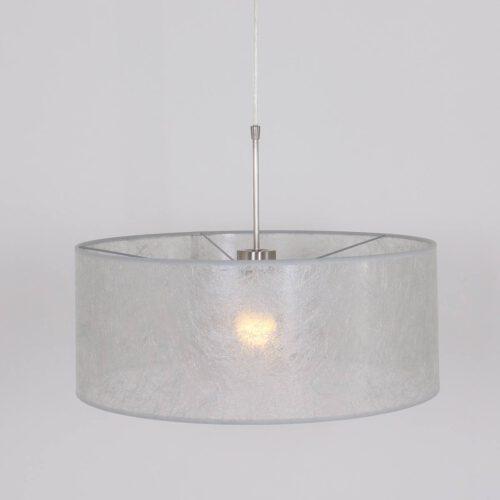 Hanglamp Stresa 9887ST Staal - Zilveren Kap STEINHAUER