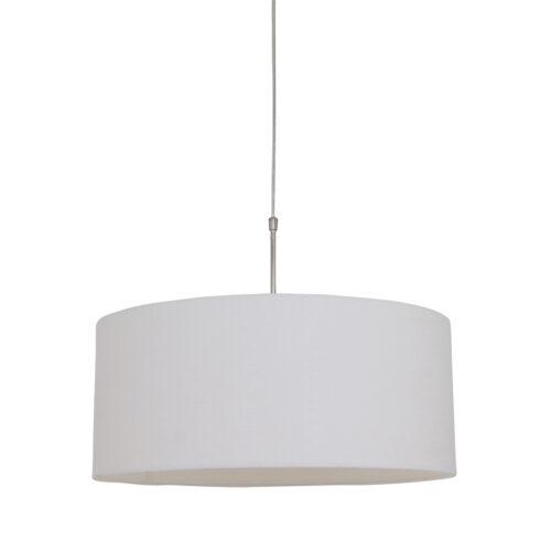 Hanglamp 1-lichts (armatuur) 3602+Kap 50*50*20 rond Be27 wit linnen - STEINHAUER