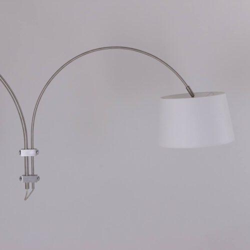 Wandlamp 1-lichts switch (armatuur)+Kap 30*25*18 rond Be27 effen wit - STEINHAUER