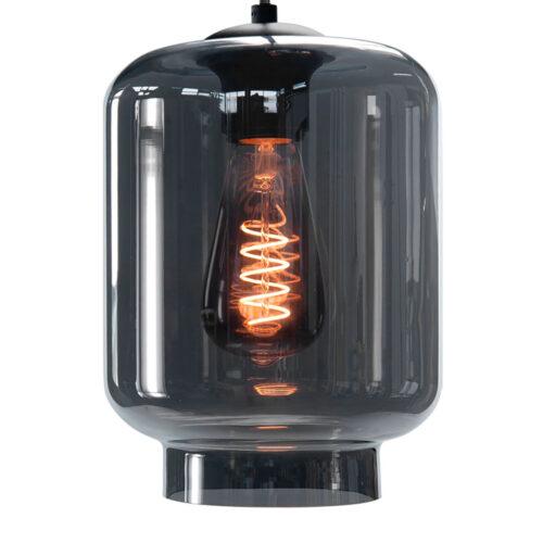 Glas Fantasy Vaso -  Los glas Smoke -  Dit glas is geschikt voor een E27 fitting -  In de glas serie van HIGH LIGHT bevinden zich diverse vormen van dit licht roze glas -  Qua tinten heeft u de keuze per variant uit Smoke (transparant zwart) - licht roze - licht groen - licht geel en licht blauw -  In onze webshop vindt u bij hanglampen diverse armaturen zonder kappen waar deze glazen prachtig op passen (zoek bijvoorbeeld in de categorie Hanglampen op High Light) -  En voor sfeervolle E27 LED lichtbronnen moet u zeker ook even in de categorie LED lichtbronnen kijken -  G2048 - 19