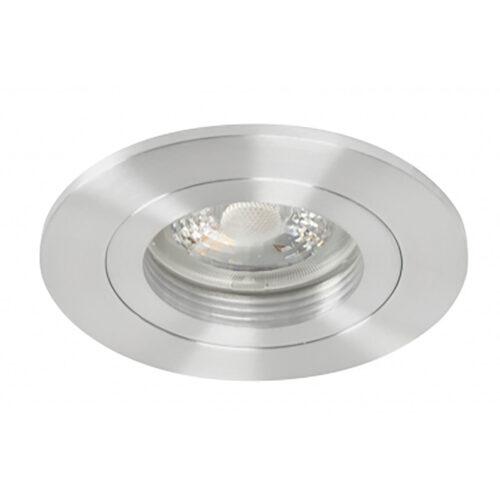 Inbouwspot Fix alu - RVS kleur - 55 mm -  De Fix serie spots van High Light schijnen naar beneden en zijn niet kantelbaar -  De inbouwspots kenmerken zich door de strakke ronde vorm -  De fitting is GU10 LED -  De spot wordt geleverd zonder lichtbron - maar deze is er gemakkelijk in te draaien dankzij de GU10 lamphouder (inclusief) -  In de spot passen vervangbare GU10 lichtbronnen van maximaal 35 Watt - LED -  De spot is ook dimbaar te maken met een externe wanddimmer (exclusief) -  In de Fix serie bevinden zich zwarte - witte en aluminium plafond inbouwspots -  S7815 - 30