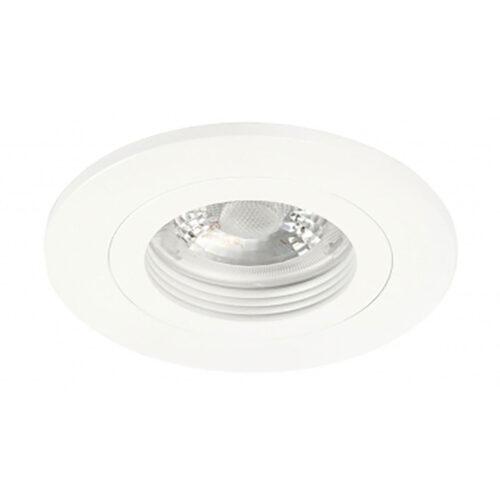 Inbouwspot Fix mat wit - 55 mm -  De Fix serie spots van High Light schijnen naar beneden en zijn niet kantelbaar -  De inbouwspots kenmerken zich door de strakke ronde vorm -  De fitting is GU10 LED -  De spot wordt geleverd zonder lichtbron - maar deze is er gemakkelijk in te draaien dankzij de GU10 lamphouder (inclusief) -  In de spot passen vervangbare GU10 lichtbronnen van maximaal 35 Watt - LED -  De spot is ook dimbaar te maken met een externe wanddimmer (exclusief) -  In de Fix serie bevinden zich zwarte - witte en aluminium plafond inbouwspots -  S7815 - 00
