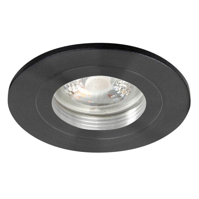 Inbouwspot Fix mat zwart - 55 mm -  De Fix serie spots van High Light schijnen naar beneden en zijn niet kantelbaar -  De inbouwspots kenmerken zich door de strakke ronde vorm -  De fitting is GU10 LED -  De spot wordt geleverd zonder lichtbron - maar deze is er gemakkelijk in te draaien dankzij de GU10 lamphouder (inclusief) -  In de spot passen vervangbare GU10 lichtbronnen van maximaal 35 Watt - LED -  De spot is ook dimbaar te maken met een externe wanddimmer (exclusief) -  In de Fix serie bevinden zich zwarte - witte en aluminium plafond inbouwspots -  S7815 - 01