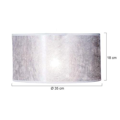 Kap 35*35*18 rond be27 zilver sizoflor - Steinhauer