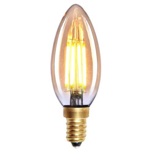Kaarslamp LED Filament 4W Amber dimbaar E14 - Serie Led - LED lamp - LED peer - High Light - L251036