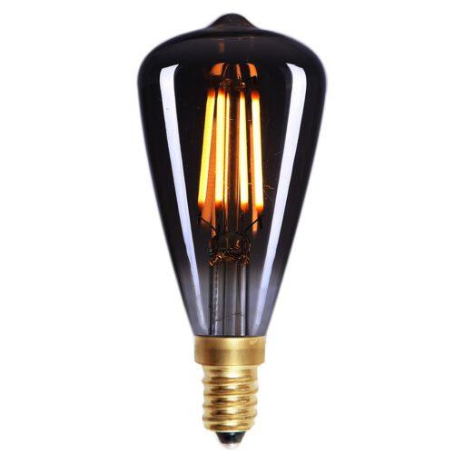 Edison Mini St - 48 LED  4W Filament Smoke dimbaar E14 - Serie Edison LED - LED lamp - LED peer - High Light - L252019