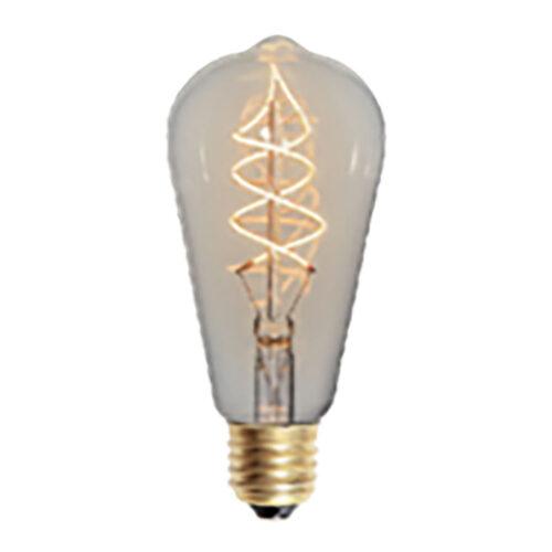 LED spiraal 9W DIM lamp Edison - 9 Watt - dimbaar -  E27 fitting - kleur Amber -  Duurzaam - decoratief en dimbaar met LED dimmer -  Kelvin 2700 - Lumen 810 -  HIGH LIGHT -  Deze LED lichtbron is ook verkrijgbaar in de kleur Smoke en in Smoke en Amber ook in 6 Watt met een 3-standen dimmer - een 3-step dimmer -  Ten opzichte van Smoke geeft de Amber kleur meer licht -  L2621 - 36