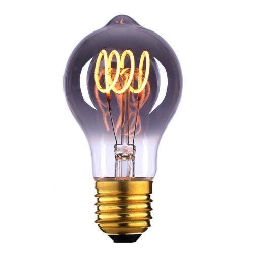 LED spiraal 6W 3-step dimbaar lamp - voor standaardlamp E27 fitting - 6 Watt - Smoke -  Duurzaam - decoratief en dimbaar -  Met deze 3-step dimming lamp heeft u geen dimmer nodig -  U gebruikt een normale schakelaar -  Door binnen 30 seconden vaker op de schakelaar te drukken verandert de lichtsterkte -  Van de hoogste lichtopbrengst naar een lage sfeervolle lichtopbrengst -  Kelvin 2700 - Lumen 540 -  HIGH LIGHT -  Deze LED lichtbron is ook verkrijgbaar in de kleur Amber -  Ten opzichte van Smoke geeft Amber meer licht -   En deze lamp is ook verkrijgbaar in 9W dimbare uitvoering -  Zie webshop categorie LED Lichtbronnen -  L2700 - 19