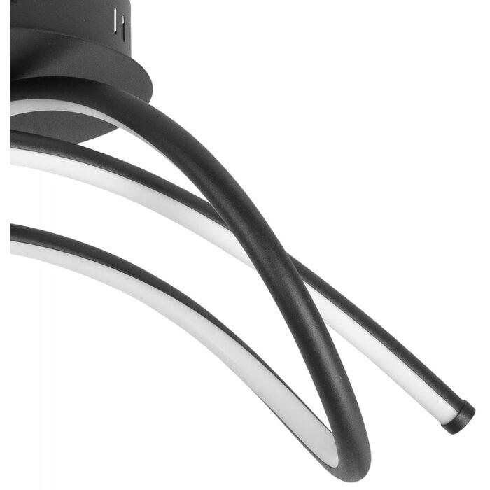 Plafonnier Plaza 26W 2700K LED Zwart + 3 stappendimmer - Serie Plaza - High Light - P656401