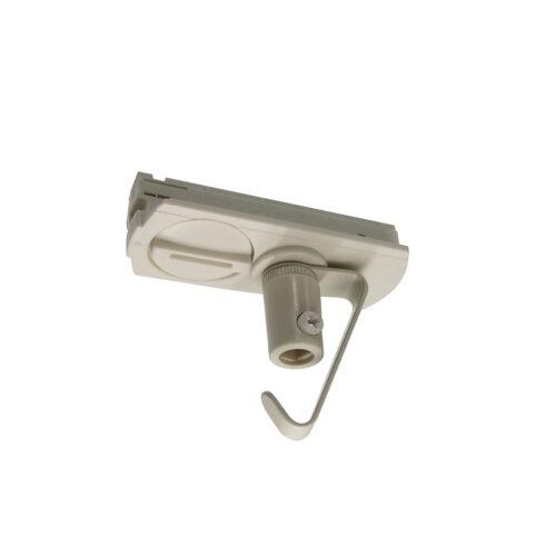 Adapter voor hanglamp voor witte spanningrail -  Deze adapter voor een hanglamp maakt onderdeel uit van de moderne railverlichting RSWebo-1 van High Light -  Dit moderne 1 fase railsysteem van Highlight  kunt u geheel zelf samenstellen -  Het systeem RSWebo-1 beschikt over verschillende lengtes spanningrail - over cilinder en retro bol spots - allerlei koppelstukken - verbinders - bochten en zelfs een adapter voor een eventuele hanglamp -  De set is geheel op maat door u samen te stellen - aan elkaar te koppelen en te voorzien van het gewenste aantal spots - maar in onze shop verkopen we ook een paar complete sets met of drie of vier spots -  Het hele systeem is leverbaar in de kleuren mat zwart en wit -  Alle items in onze webshop met code RSWebo-1 - passen bij elkaar -  De spots zijn te verschuiven - draaibaar en kantelbaar -  De aansluitvoeding zit aan het begin van de rail daar zit ook het kroonsteentje om de aansluiting te maken -  De spots binnen de serie RSWebo-1 zijn geschikt voor een GU10 LED lichtbron van maximaal 35 Watt -  De spots zijn ook dimbaar te maken met een externe wanddimmer (exclusief) -  O5115 - 00
