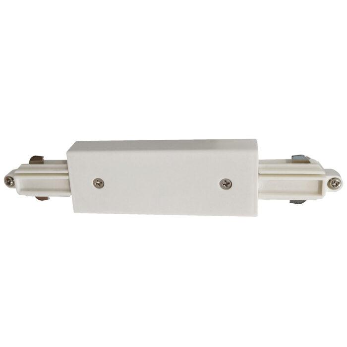Centraal aansluitstuk voor witte spanningrail -  Dit centraal aansluitstuk maakt onderdeel uit van de moderne railverlichting RSWebo-1 van High Light -  Dit moderne 1 fase railsysteem van Highlight  kunt u geheel zelf samenstellen -  Het systeem RSWebo-1 beschikt over verschillende lengtes spanningrail - over cilinder en retro bol spots - allerlei koppelstukken - verbinders - bochten en zelfs een adapter voor een eventuele hanglamp -  De set is geheel op maat door u samen te stellen - aan elkaar te koppelen en te voorzien van het gewenste aantal spots - maar in onze shop verkopen we ook een paar complete sets met of drie of vier spots -  Het hele systeem is leverbaar in de kleuren mat zwart en wit -  Alle items in onze webshop met code RSWebo-1 - passen bij elkaar -  De spots zijn te verschuiven - draaibaar en kantelbaar -  De aansluitvoeding zit aan het begin van de rail daar zit ook het kroonsteentje om de aansluiting te maken -  De spots binnen de serie RSWebo-1 zijn geschikt voor een GU10 LED lichtbron van maximaal 35 Watt -  De spots zijn ook dimbaar te maken met een externe wanddimmer (exclusief) -  O5109 - 00