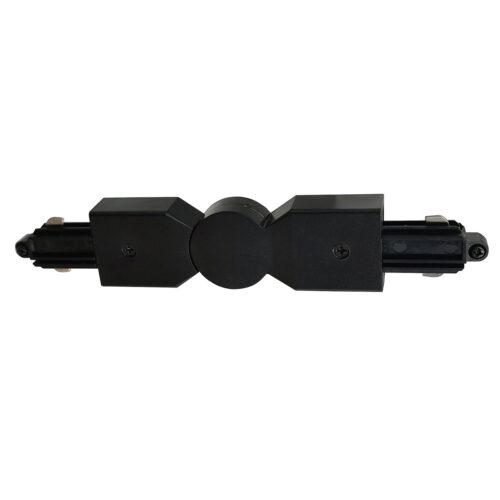 Hoekstuk rail flexibel voor mat zwarte spanningrail -  Dit hoekstuk rail flexibel maakt onderdeel uit van de moderne railverlichting RSWebo-1 van High Light -  Dit moderne 1 fase railsysteem van Highlight  kunt u geheel zelf samenstellen -  Het systeem RSWebo-1 beschikt over verschillende lengtes spanningrail - over cilinder en retro bol spots - allerlei koppelstukken - verbinders - bochten en zelfs een adapter voor een eventuele hanglamp -  De set is geheel op maat door u samen te stellen - aan elkaar te koppelen en te voorzien van het gewenste aantal spots - maar in onze shop verkopen we ook een paar complete sets met of drie of vier spots -  Het hele systeem is leverbaar in de kleuren mat zwart en wit -  Alle items in onze webshop met code RSWebo-1 - passen bij elkaar -  De spots zijn te verschuiven - draaibaar en kantelbaar -  De aansluitvoeding zit aan het begin van de rail daar zit ook het kroonsteentje om de aansluiting te maken -  De spots binnen de serie RSWebo-1 zijn geschikt voor een GU10 LED lichtbron van maximaal 35 Watt -  De spots zijn ook dimbaar te maken met een externe wanddimmer (exclusief) -  O5112 - 01