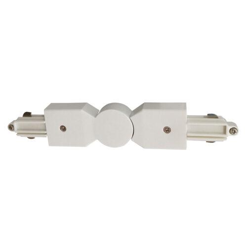 Hoekstuk rail flexibel voor witte spanningrail -  Dit hoekstuk rail flexibel maakt onderdeel uit van de moderne railverlichting RSWebo-1 van High Light -  Dit moderne 1 fase railsysteem van Highlight  kunt u geheel zelf samenstellen -  Het systeem RSWebo-1 beschikt over verschillende lengtes spanningrail - over cilinder en retro bol spots - allerlei koppelstukken - verbinders - bochten en zelfs een adapter voor een eventuele hanglamp -  De set is geheel op maat door u samen te stellen - aan elkaar te koppelen en te voorzien van het gewenste aantal spots - maar in onze shop verkopen we ook een paar complete sets met of drie of vier spots -  Het hele systeem is leverbaar in de kleuren mat zwart en wit -  Alle items in onze webshop met code RSWebo-1 - passen bij elkaar -  De spots zijn te verschuiven - draaibaar en kantelbaar -  De aansluitvoeding zit aan het begin van de rail daar zit ook het kroonsteentje om de aansluiting te maken -  De spots binnen de serie RSWebo-1 zijn geschikt voor een GU10 LED lichtbron van maximaal 35 Watt -  De spots zijn ook dimbaar te maken met een externe wanddimmer (exclusief) -  O5112 - 00