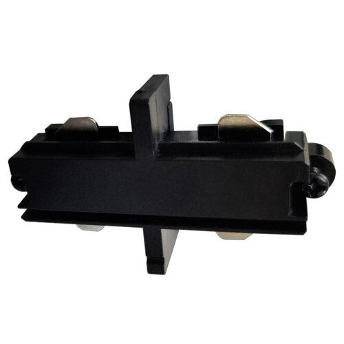 Intern koppelstuk voor mat zwarte spanningrail -  Dit aansluitstuk maakt onderdeel uit van de moderne railverlichting RSWebo-1 van High Light -  Dit moderne 1 fase railsysteem van Highlight  kunt u geheel zelf samenstellen -  Het systeem RSWebo-1 beschikt over verschillende lengtes spanningrail - over cilinder en retro bol spots - allerlei koppelstukken - verbinders - bochten en zelfs een adapter voor een eventuele hanglamp -  De set is geheel op maat door u samen te stellen - aan elkaar te koppelen en te voorzien van het gewenste aantal spots - maar in onze shop verkopen we ook een paar complete sets met of drie of vier spots -  Het hele systeem is leverbaar in de kleuren mat zwart en wit -  Alle items in onze webshop met code RSWebo-1 - passen bij elkaar -  De spots zijn te verschuiven - draaibaar en kantelbaar -  De aansluitvoeding zit aan het begin van de rail daar zit ook het kroonsteentje om de aansluiting te maken -  De spots binnen de serie RSWebo-1 zijn geschikt voor een GU10 LED lichtbron van maximaal 35 Watt -  De spots zijn ook dimbaar te maken met een externe wanddimmer (exclusief) -  O5108 - 01